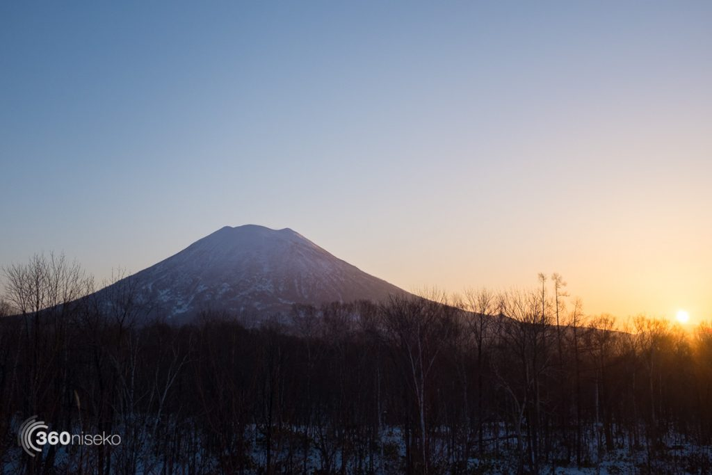 Sunrise over Mt.Yotei, 19 December 2016