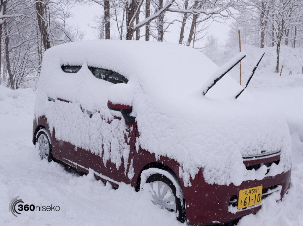 36 hours of snowfall on the car, 19 February 2017
