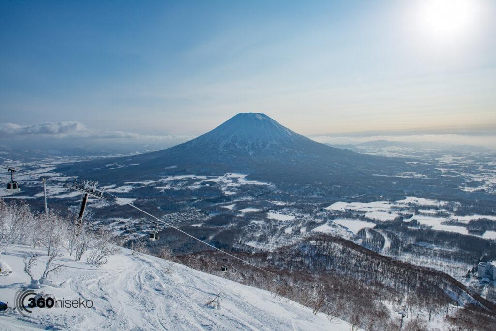 The start of the famed Mizu no sawa run in Niseko Village, 29 January 2017