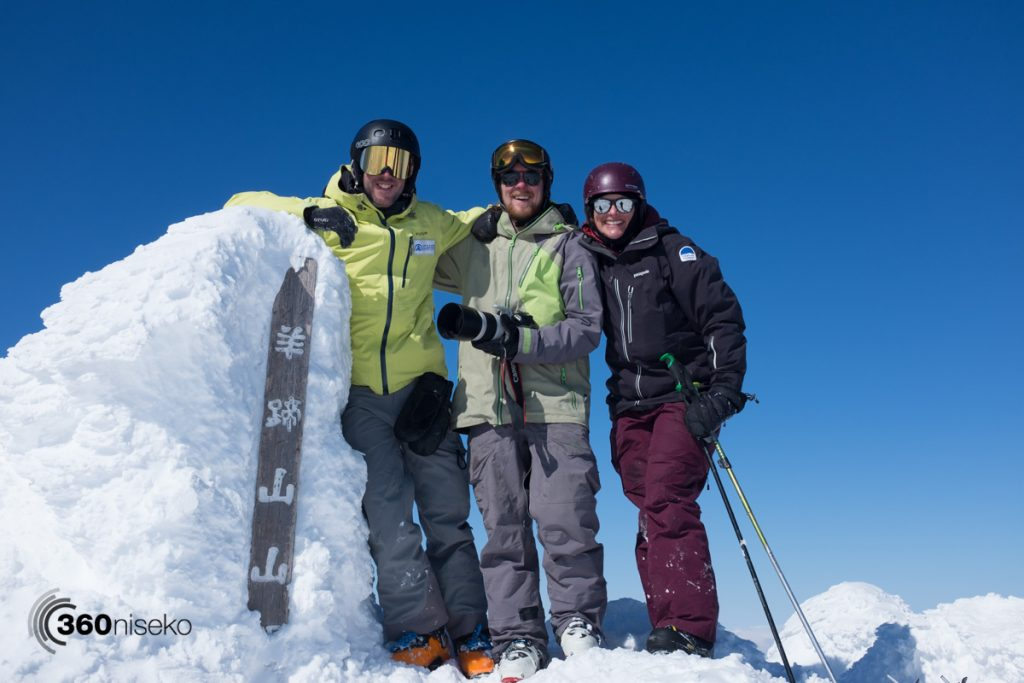 James, Teddy & Tracey at the summit of Mt.Yotei, 27 February 2017