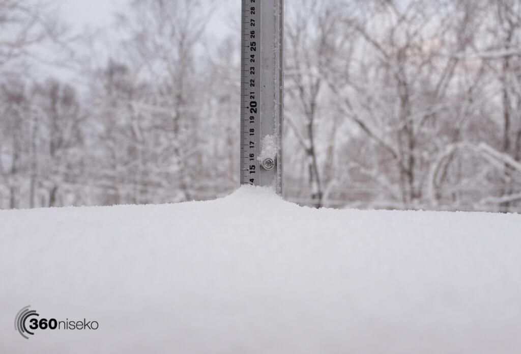 Snowfall in Niseko,  3 February 2017