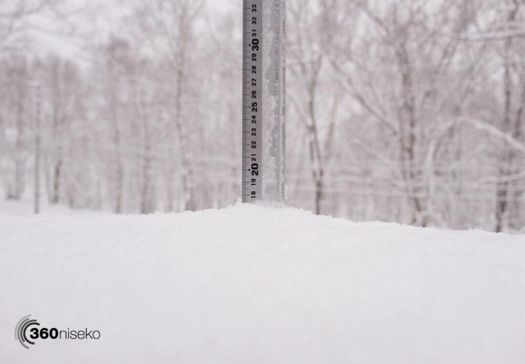 Snowfall in Niseko, 20 February 2017
