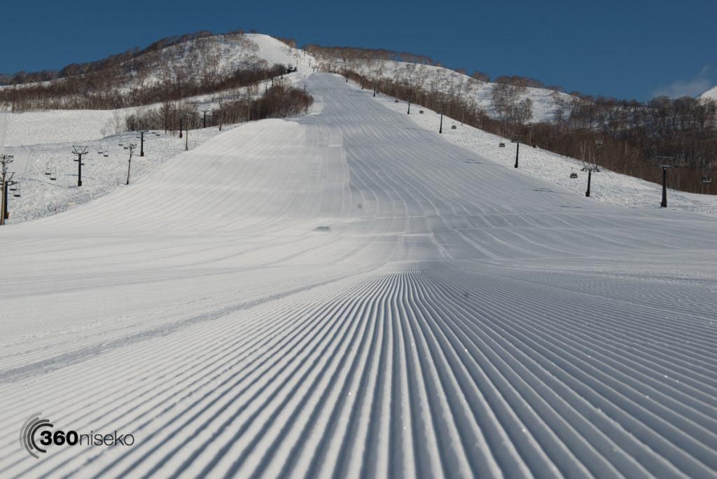 Groomed perfection at Moiwa Ski Resort, 12 March 2017