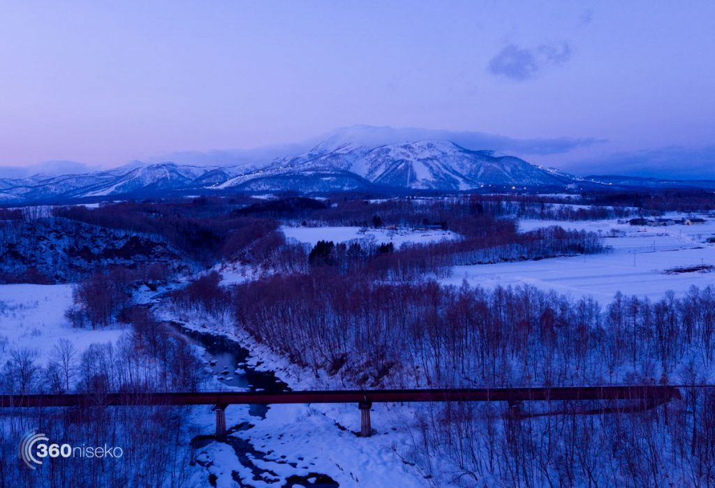 Twilight looking toward Mt.Annupuri from Niseko town, 15 March 2017