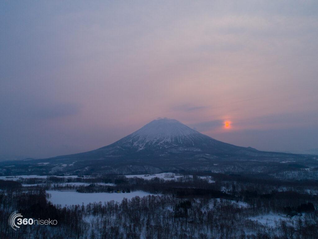 Sunrise overMt.Yotei, 2 March 2017