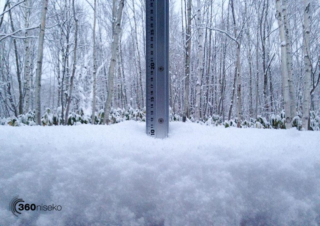 Snowfall in Niseko at 300m, 17 November 2017