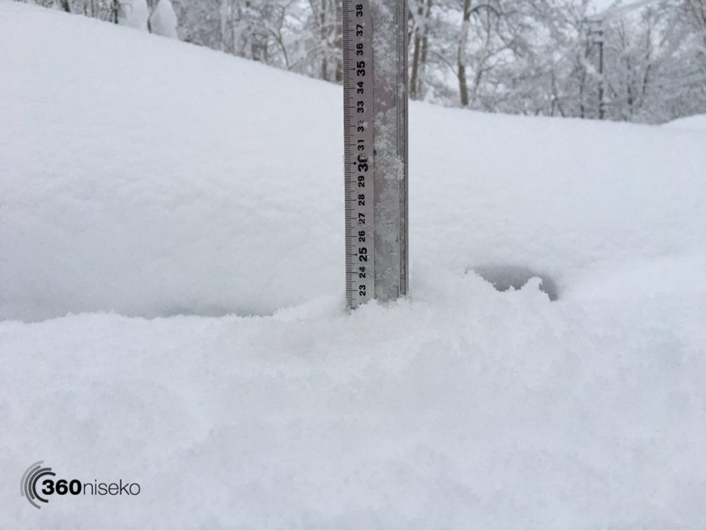Snowfall in Niseko, 21 November 2017