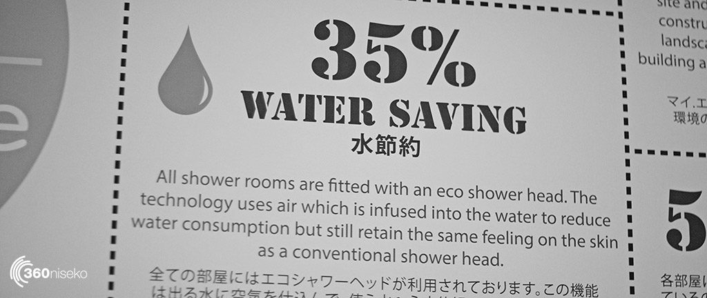 All the My ecolodge showers us 35% less water than normal showers.