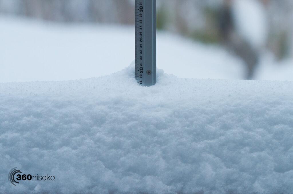 Snowfall in Niseko, 6 December 2017
