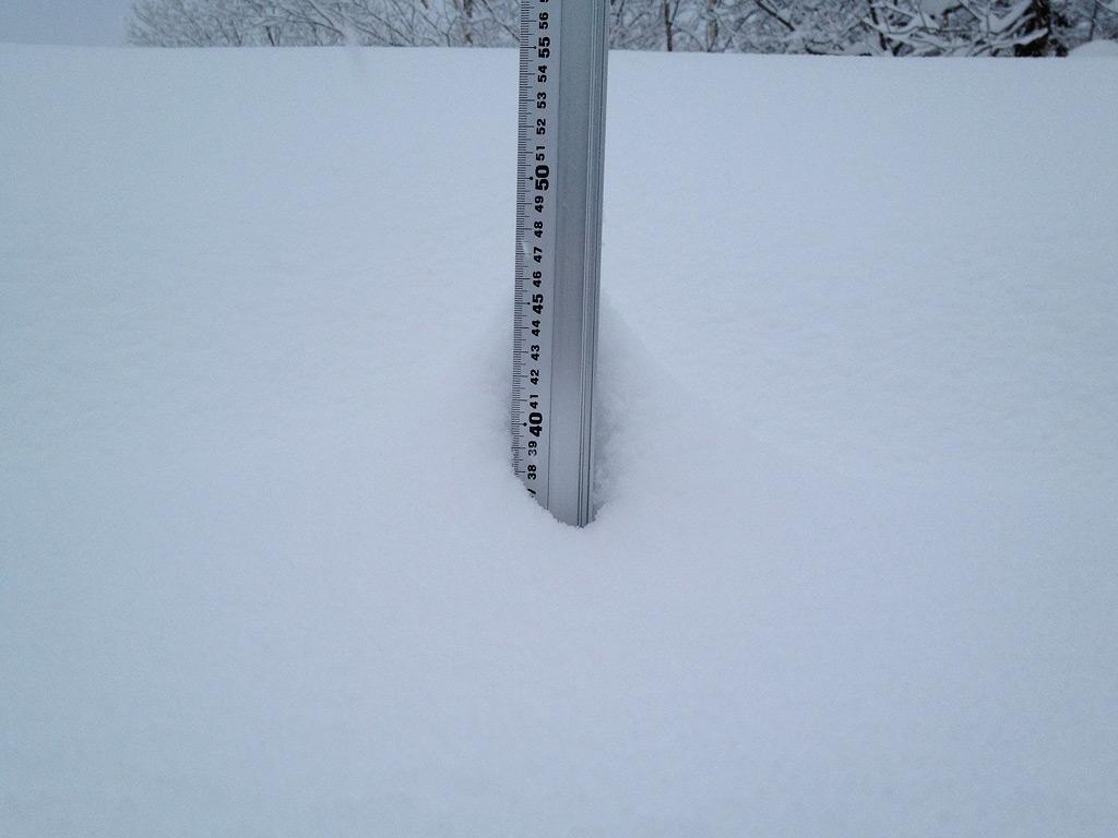 Snow fall depth in Hirafu Village, 18 January 2013