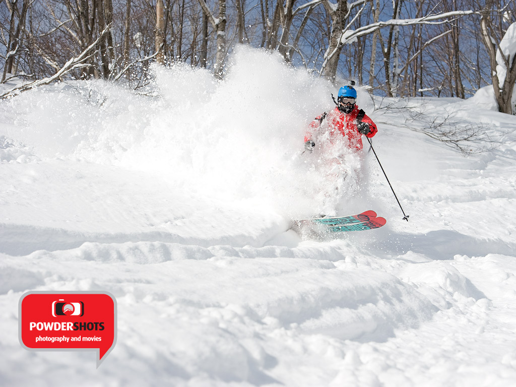 Toby ripping through the exceptional Niseko POW, 9 February 2013