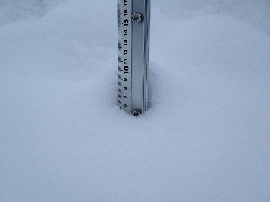 Snow fall depth in Hirafu Village, 10 February 2013