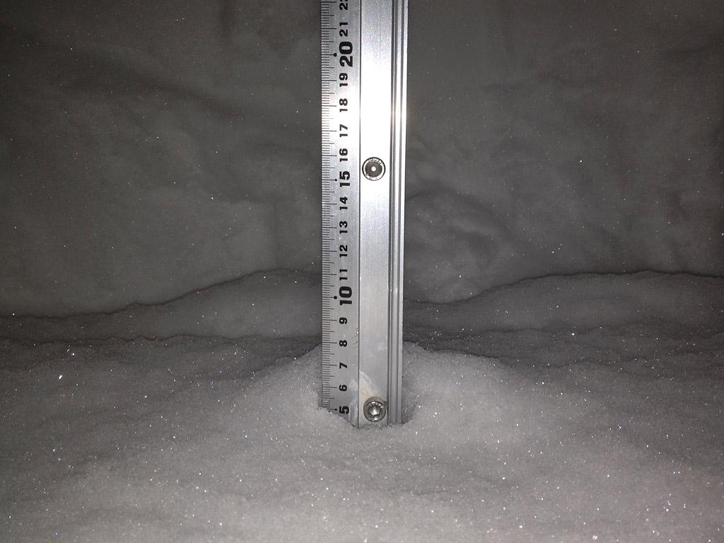 Snow fall depth in Hirafu Village, 9 February 2013