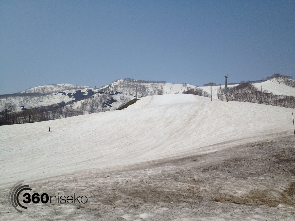 Niseko Hiraf's Alpen course , 23 April 2013