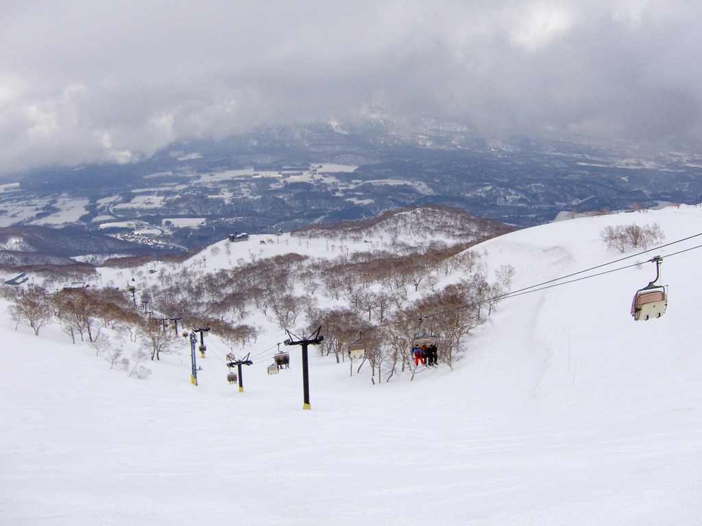 Looking down the Rinkan course, 19 April 2013