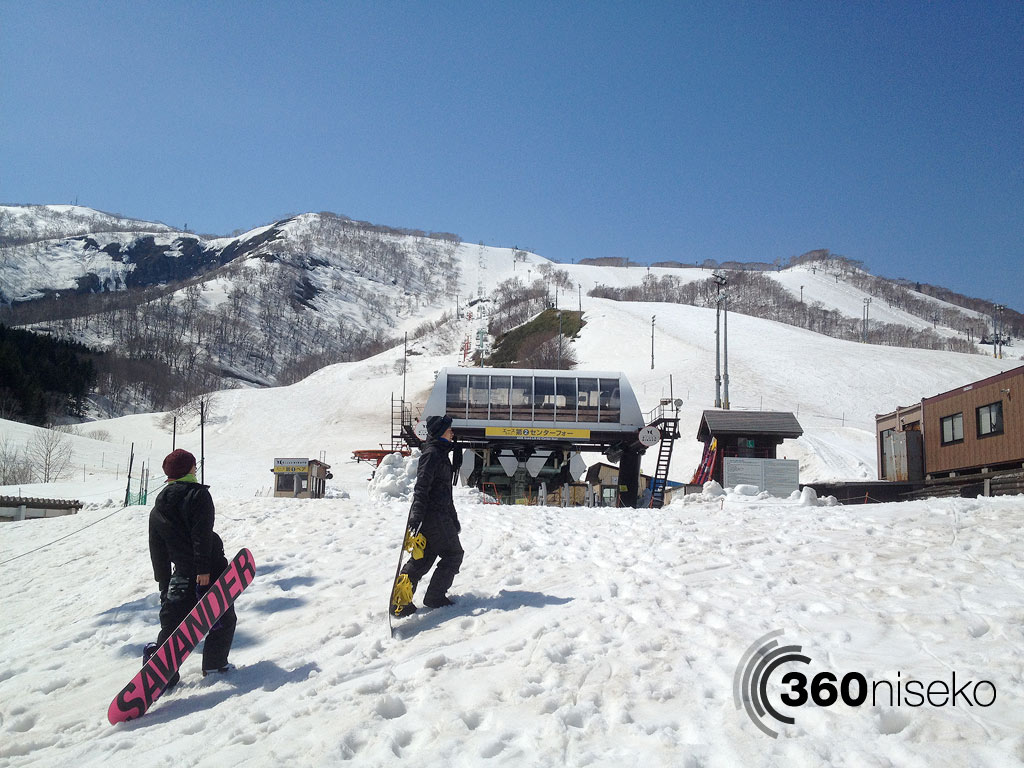 Still boarding in Niseko, 23 April 2013