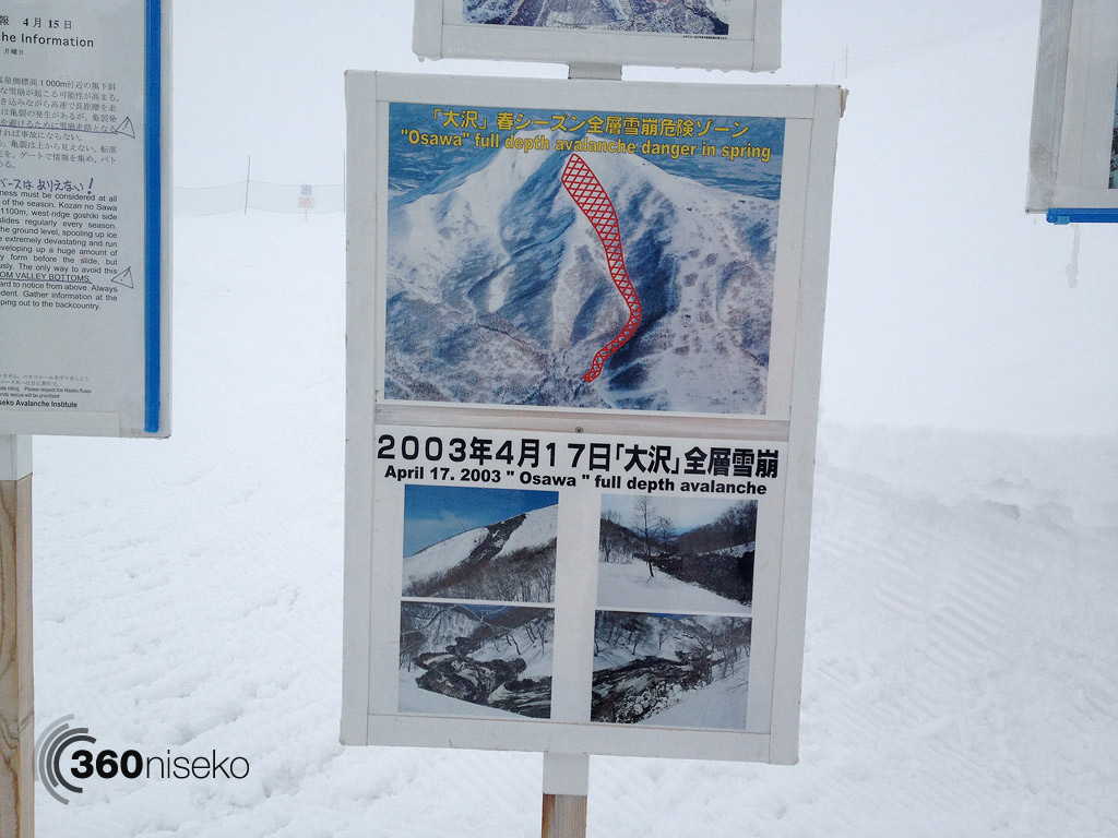 Osawa full depth avalanche information that occurred on the 17th of April, 1 May 2013