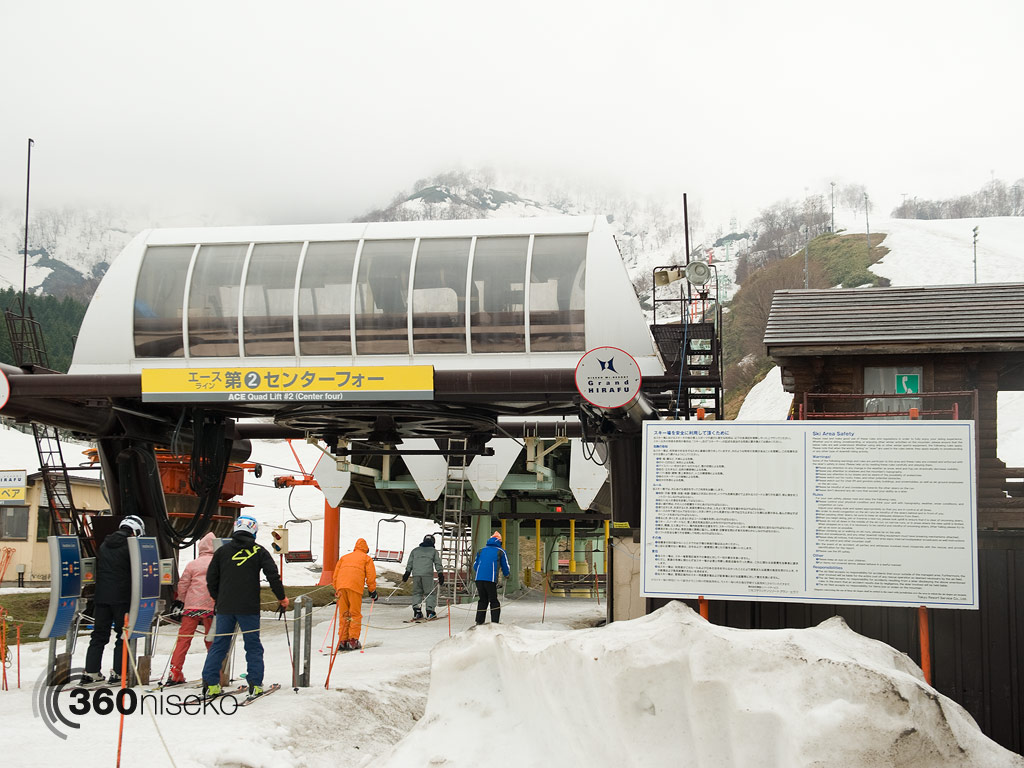 The last rush for the first lifts for the 2012/13 season, 6 May 2013