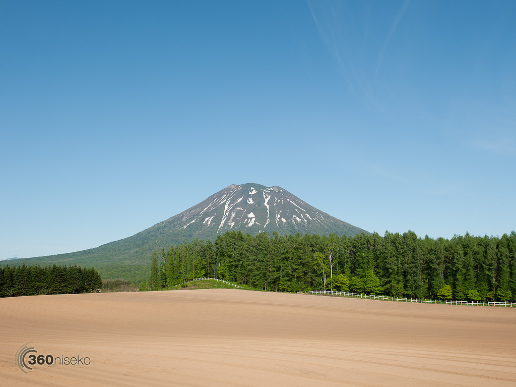 Mt.Yotei and the famous farmers field, 4 June 2013
