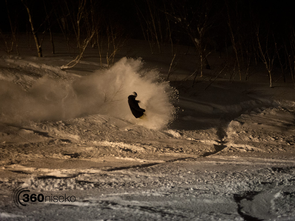 Ash throwing around a few blankets of POW, 19 December 2012