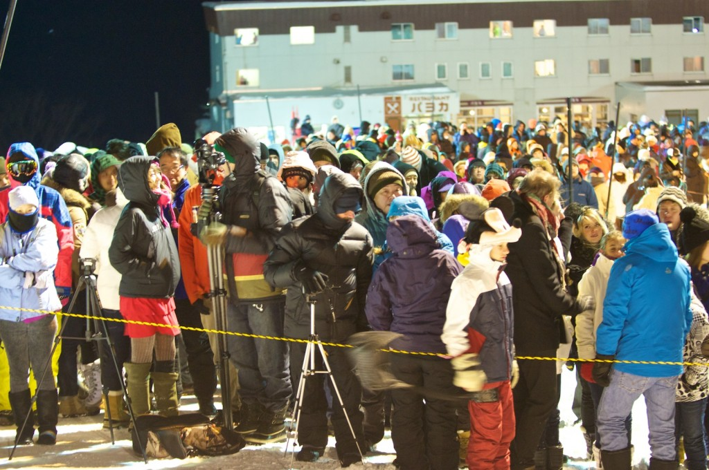 Crowds gathering for NYE torch relay