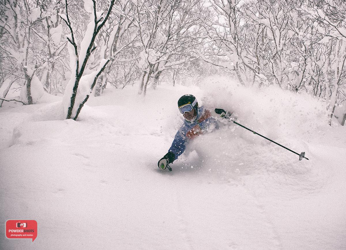 Brad enjoying the magnificent Miharashi powder, 12 January 2014