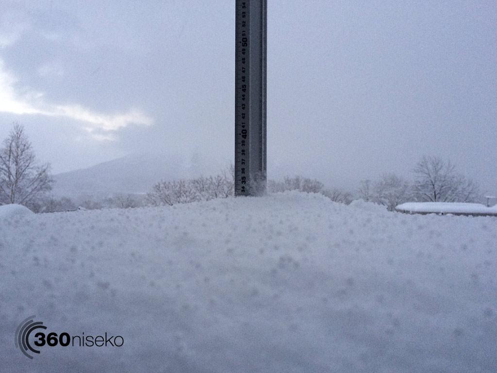 Snowfall in Hirafu Village, 6 January 2014