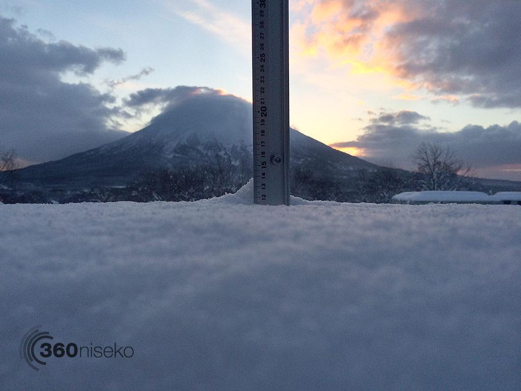 Snowfall in Hirafu Village, 7 January 2014