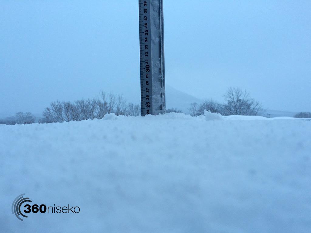Snowfall in Hirafu Village, 1 February 2014