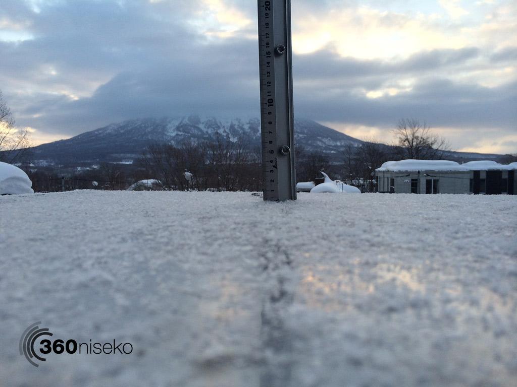 Snowfall in Hirafu Village, 13 February 2014