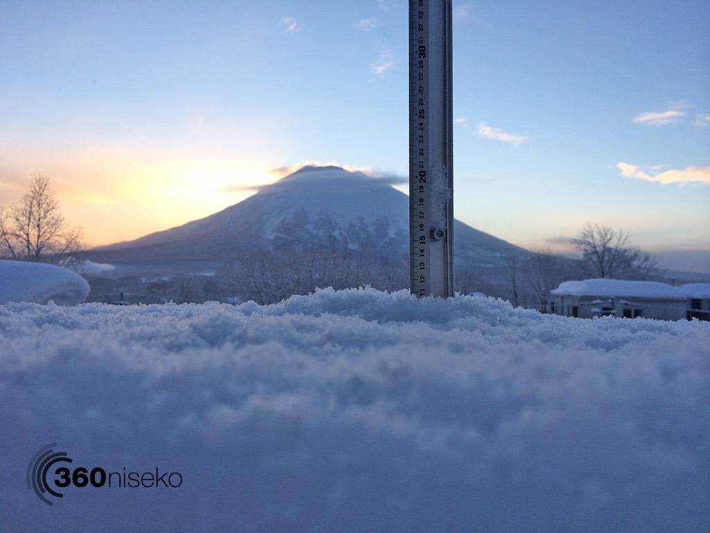 Snowfall in Hirafu Village, 22 February 2014
