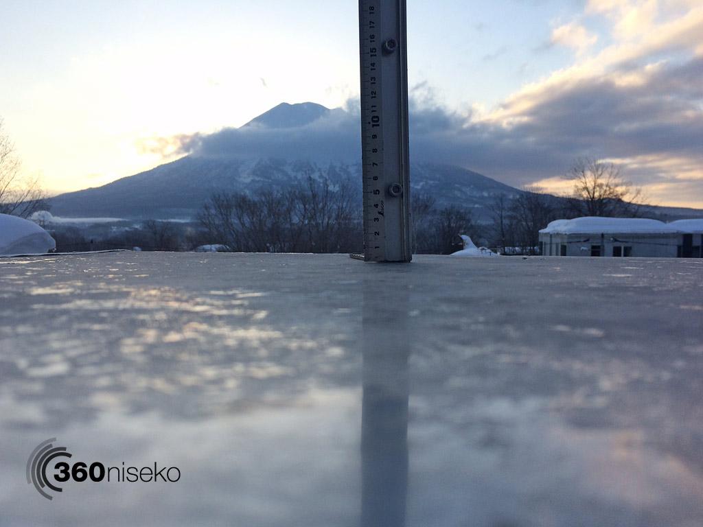 Snowfall in Hirafu Village, 24 February 2014