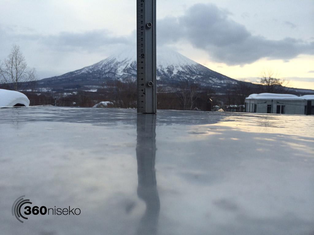 Snowfall in Hirafu Village, 1 March 2014
