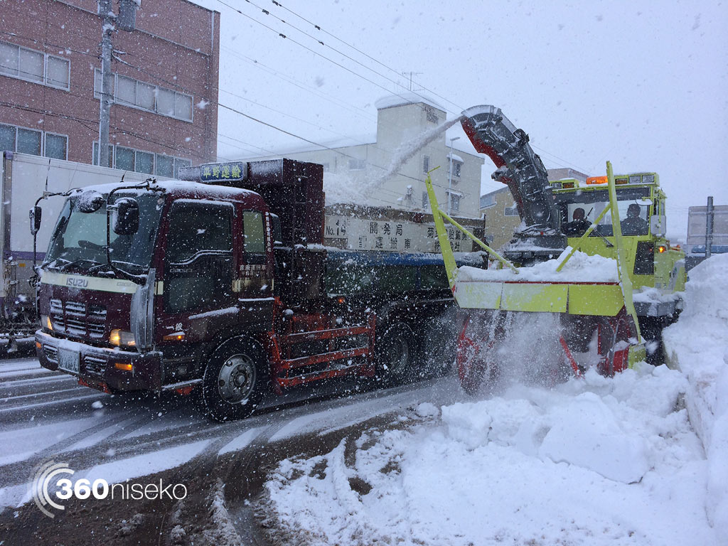 Heavy duty Snow Clearing in Kutchan, 10 March 2014