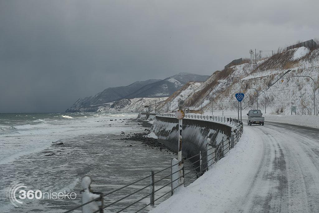 The spectacular Sea of Japan coastline, 20 January 2015