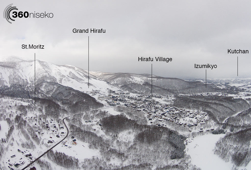 Hirafu village and the surrounding areas, 13 January 2015