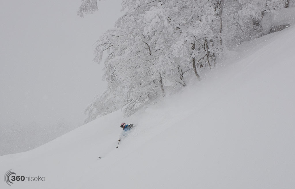 Perfect backcountry lines - Skier Keith Rodgers, 11 January 2015