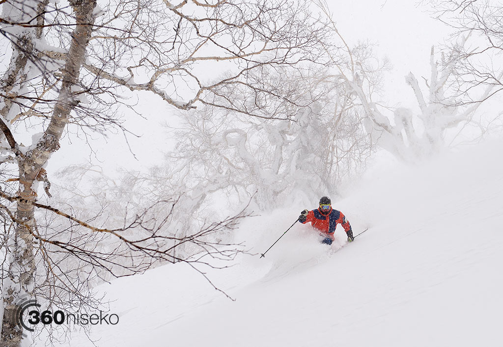 Steep n deep in Kiroro with Brad, 25 February 2015