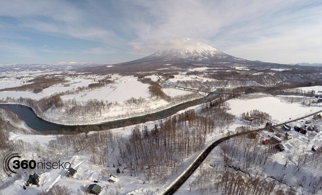 Outer Hirafu Village - Shiribetsu river, 5 February 2015