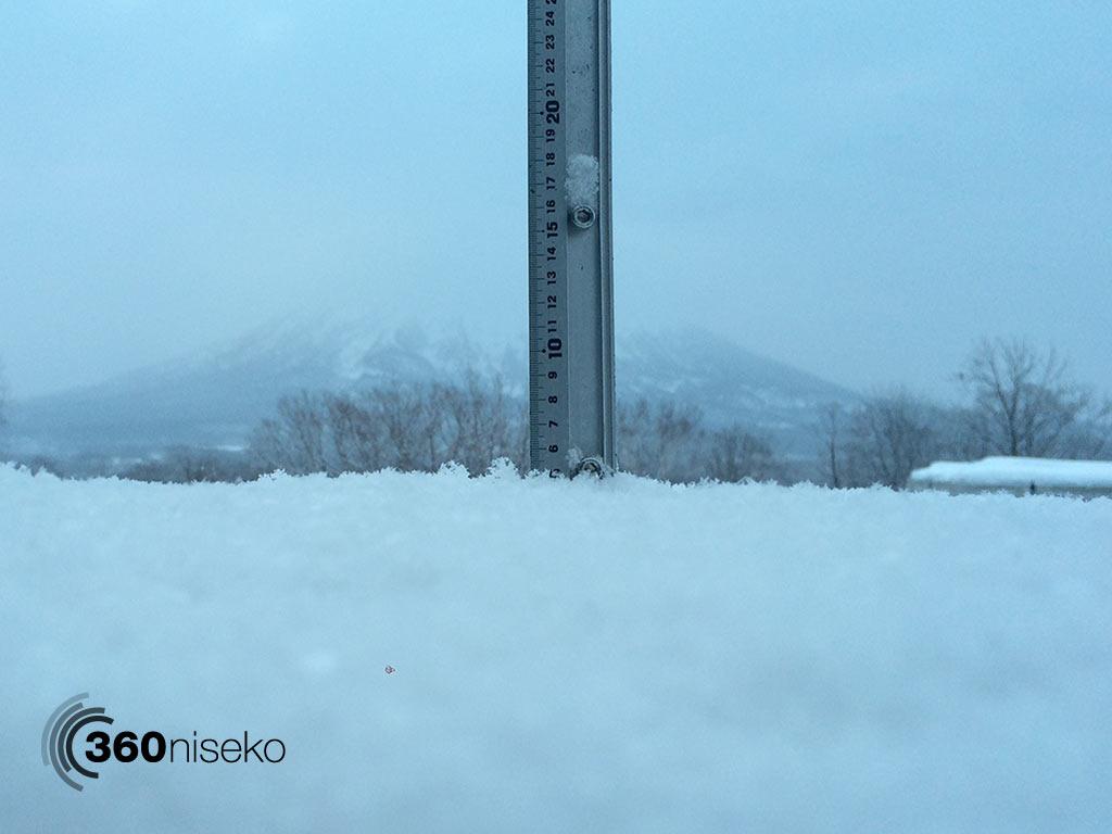 Snowfall in Hirafu Village, 7 February 2015