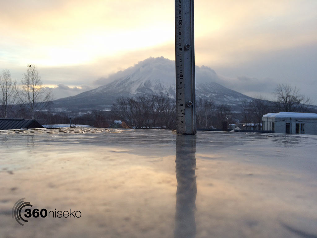 Snowfall in Hirafu Village, 8 February 2015