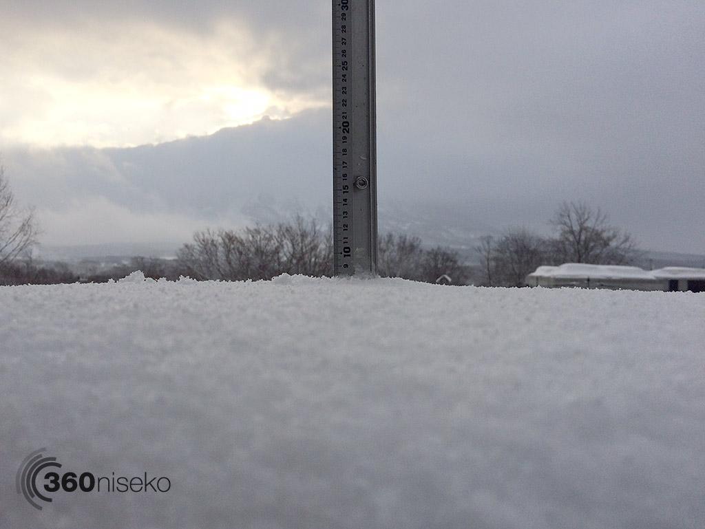 Snowfall in Hirafu Village, 7 March 2015