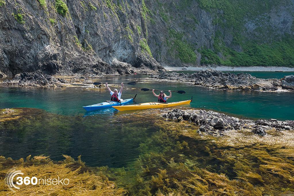 Happy sea kayakers, 8 July 2014
