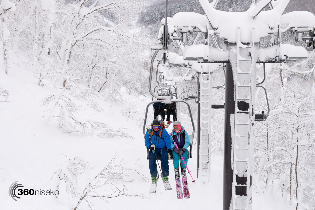 Father & Daughter surrounded by POW in Rusutsu, 8 January 201