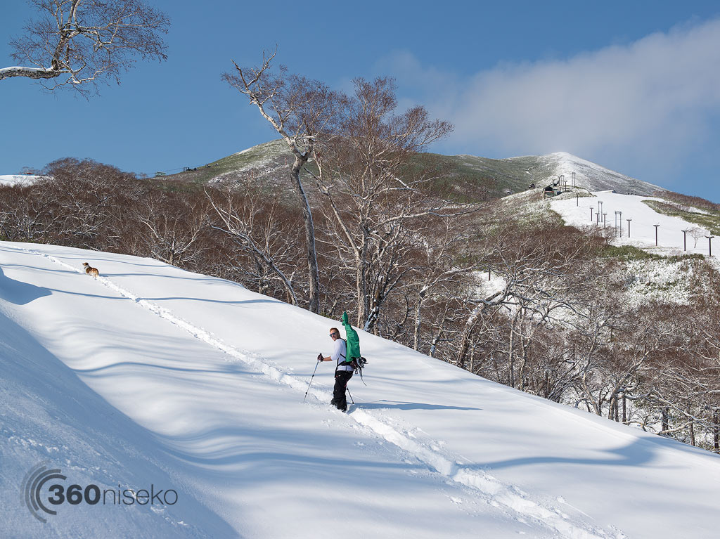 Hirafu First Tracks with Sam and Woodley, 9 November 2013