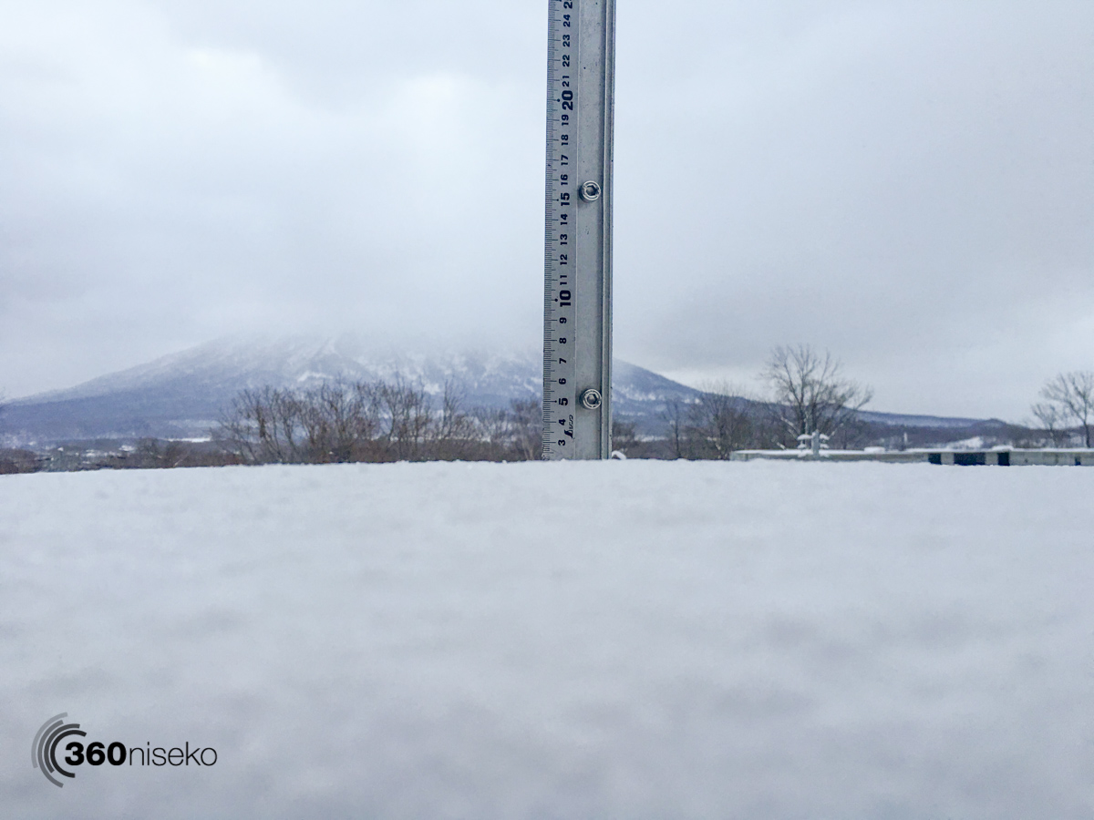Snowfall in Hirafu Village, 20 December 2015