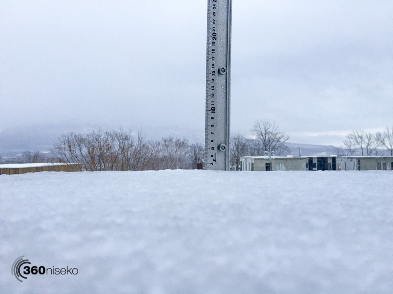Snowfall in Hirafu Village, 21 December 2015