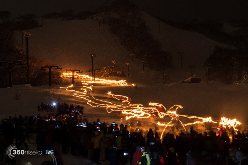 New Year torches long exposure, 1 January 2016
