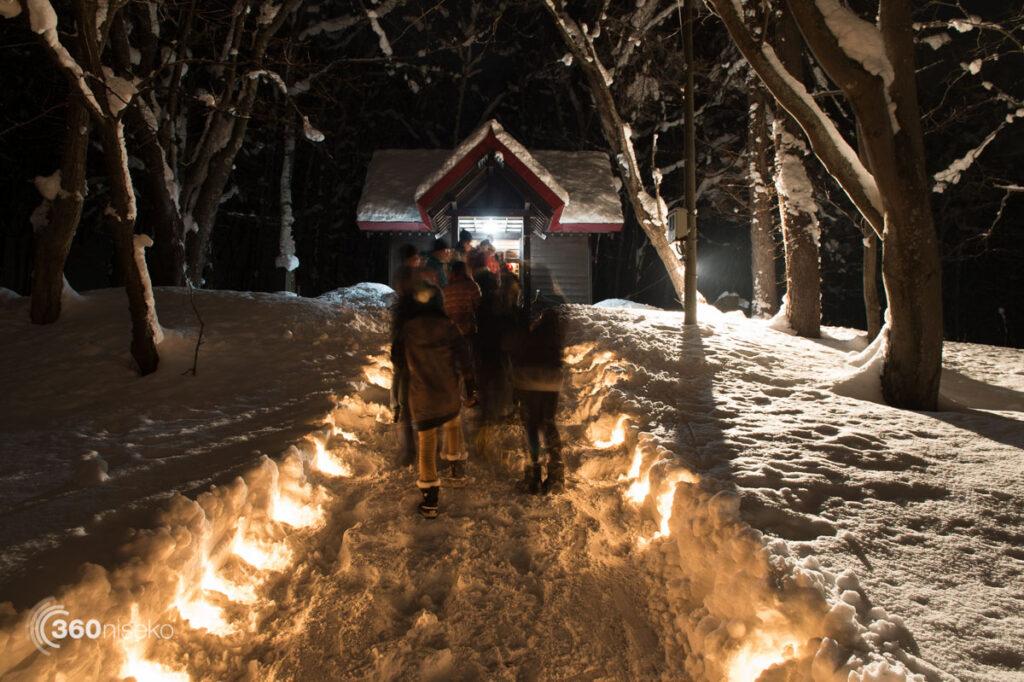 New years wishes at Hirafu Shirne - Hatsu Moude, 1 January 2016