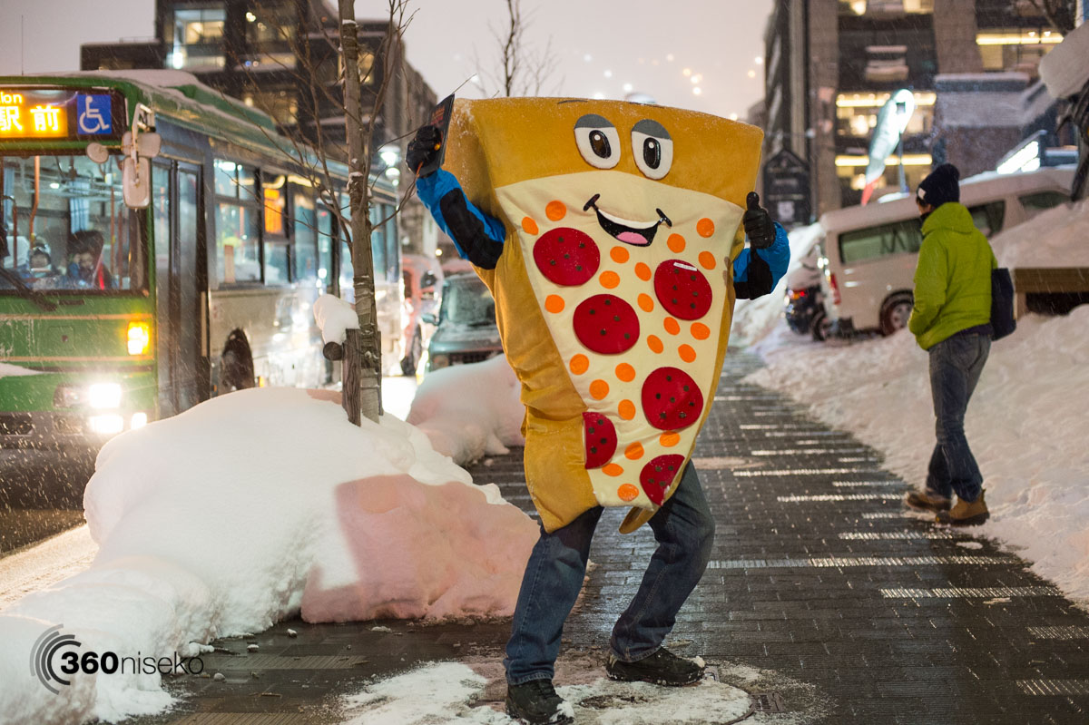Everyone's favourite local mascot 'Mr Slicey' from Lava Lounge Pizza, 10 January 2016